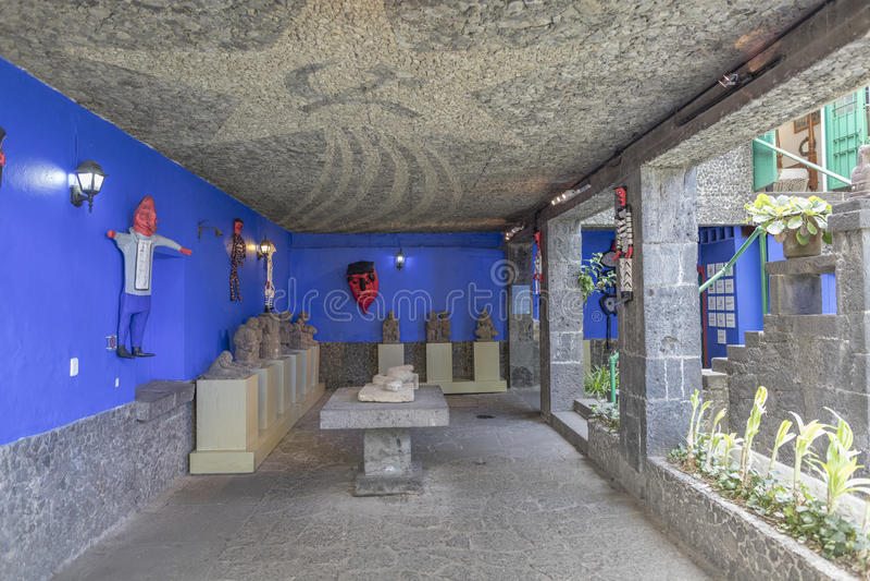 Casa blu Azul della La della Camera immagine stock