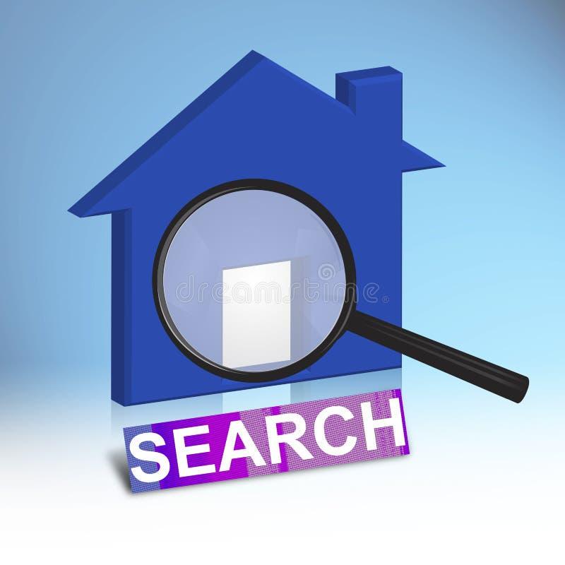 Casa blu illustrazione di stock illustrazione di reale for Concetto di piani per la casa