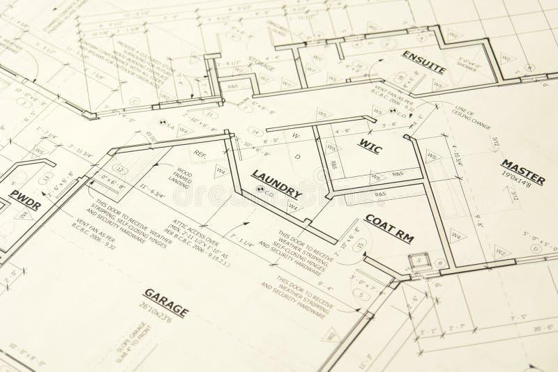 A casa Blueprints plantas foto de stock