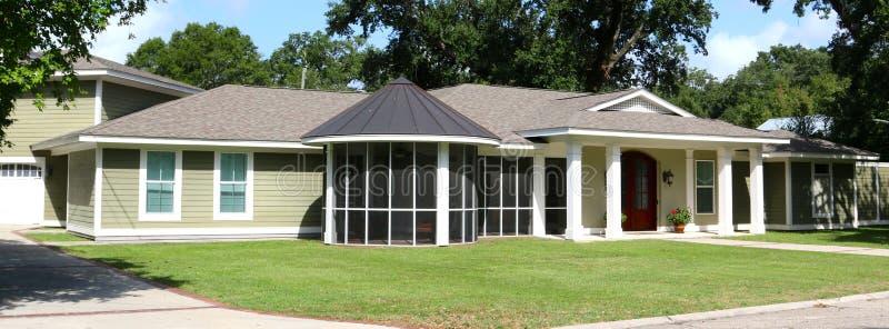 Casa bonita da área da praia em Biloxi, Missis imagem de stock