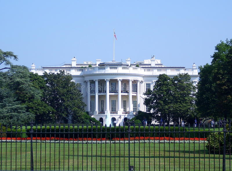A casa branca imagens de stock royalty free
