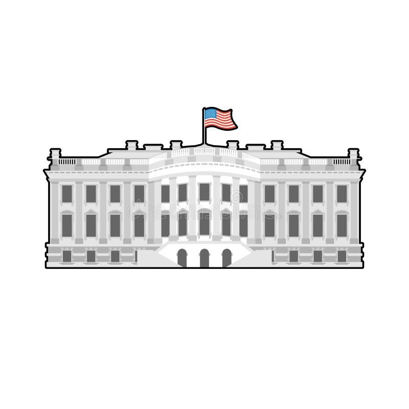 Casa branca América Residência do presidente EUA O governo b dos E.U. ilustração stock