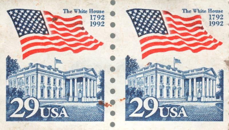 29 casa branca 1992 do selo postal da classe dos EUA primeiros do centavo fotografia de stock