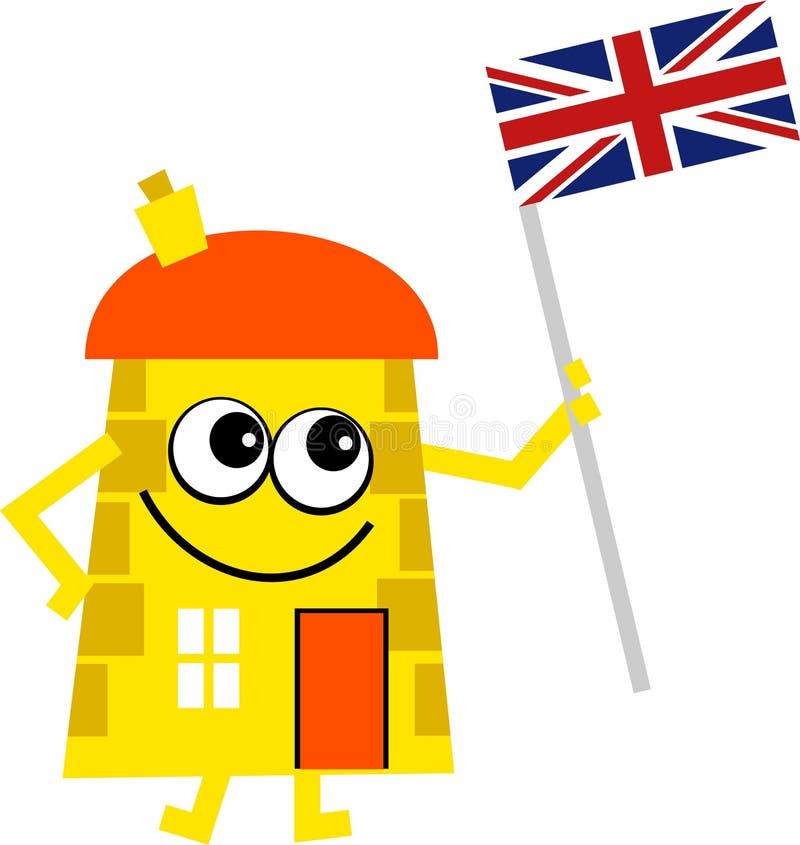Casa británica ilustración del vector