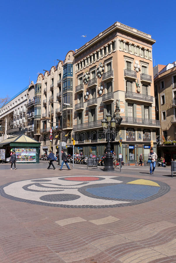 Casa Bruno Cuadros - Βαρκελώνη, Ισπανία στοκ φωτογραφίες