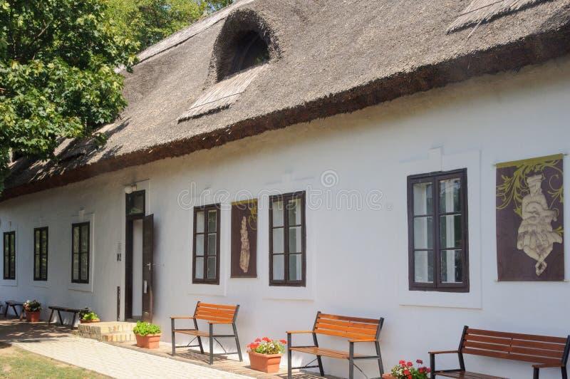 Casa campesina vieja - Szigliget imagen de archivo