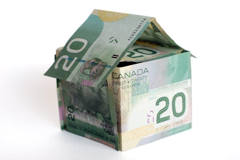 Casa canadense do dinheiro imagens de stock