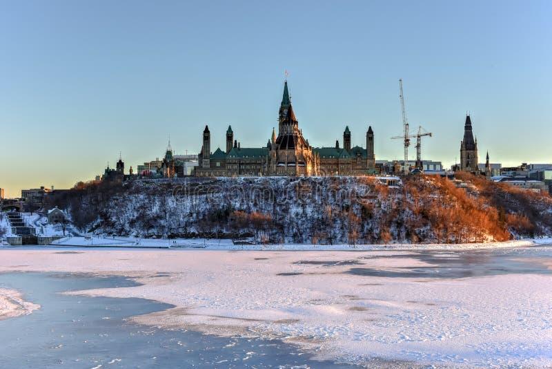 Casa canadense do parlamento - Ottawa, Canadá foto de stock royalty free