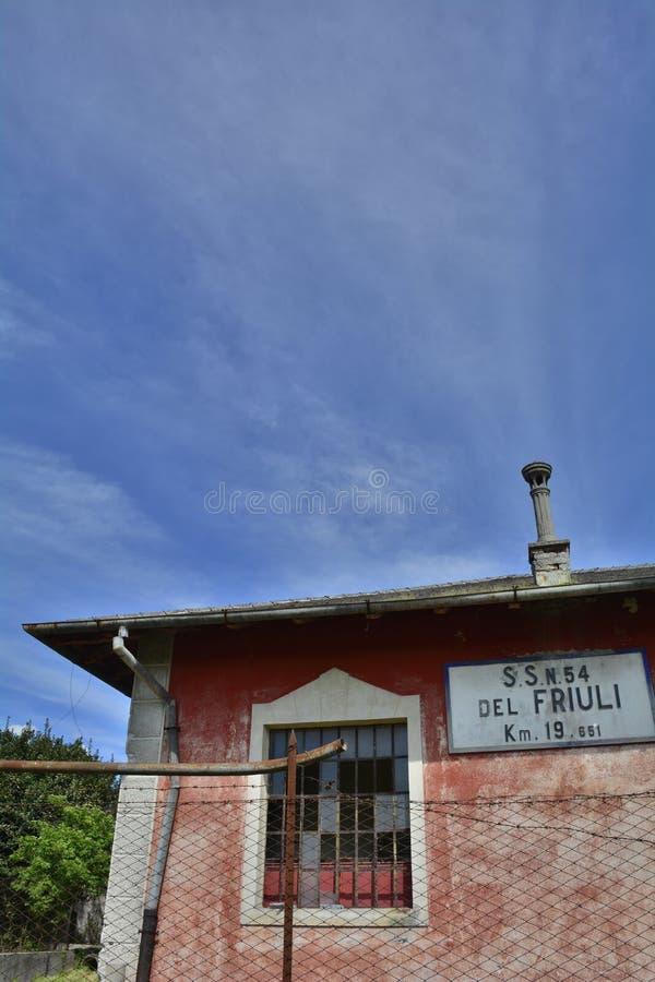 Casa Cantoniera σε Soravilla στοκ εικόνες