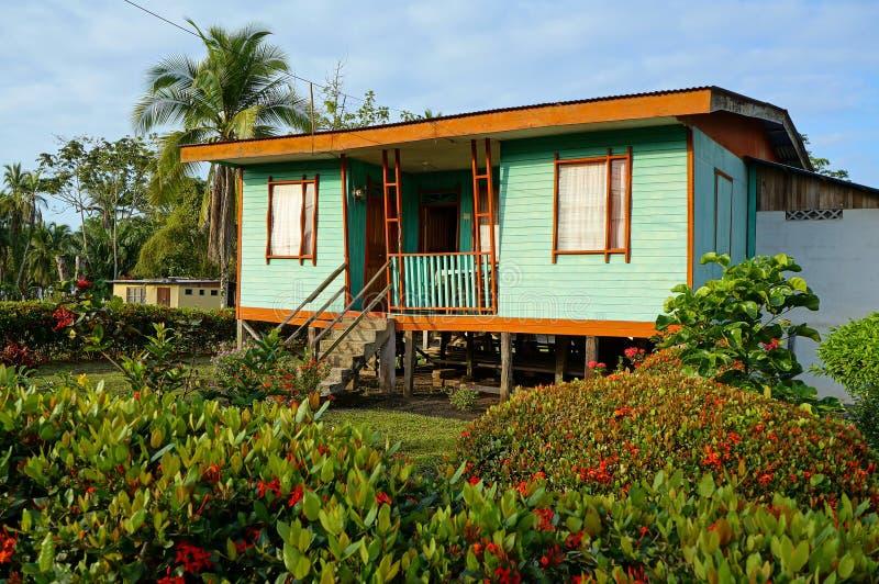 Casa caraibica indigena tipica fotografia stock libera da diritti