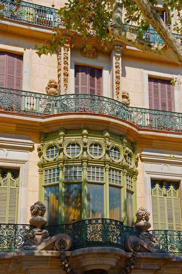 Casa Casarramona i Passeig de Gracia i Barcelona royaltyfria bilder