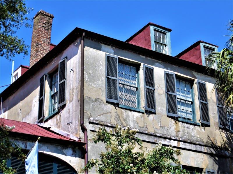 Casa, Charleston, South Carolina imagem de stock royalty free