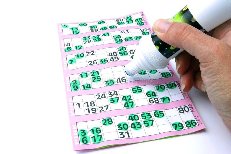 Casa cheia do Bingo foto de stock