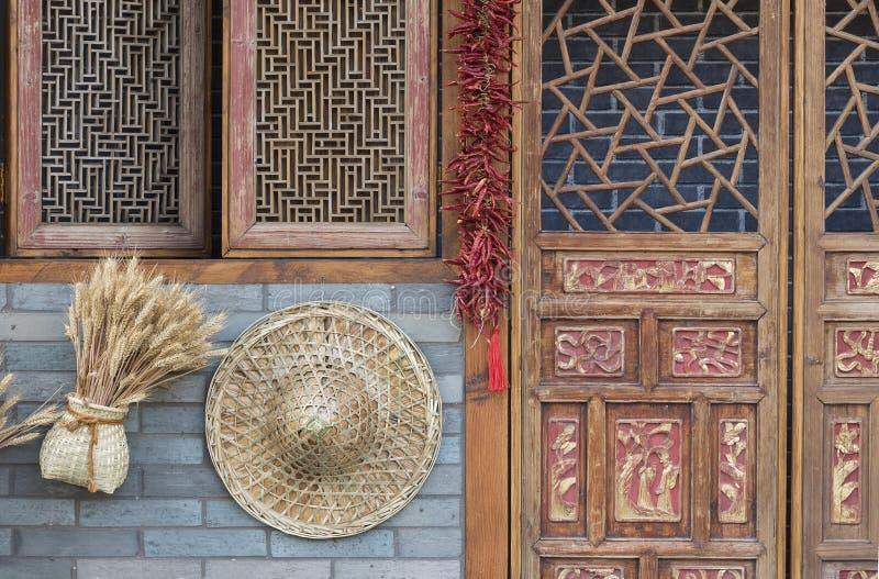 Casa china de la granja fotos de archivo