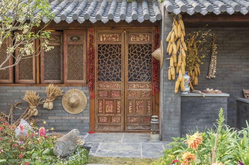 Casa chinesa da exploração agrícola fotos de stock