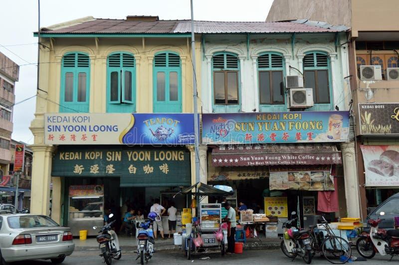 Casa chinesa da loja na cidade de Ipoh fotos de stock