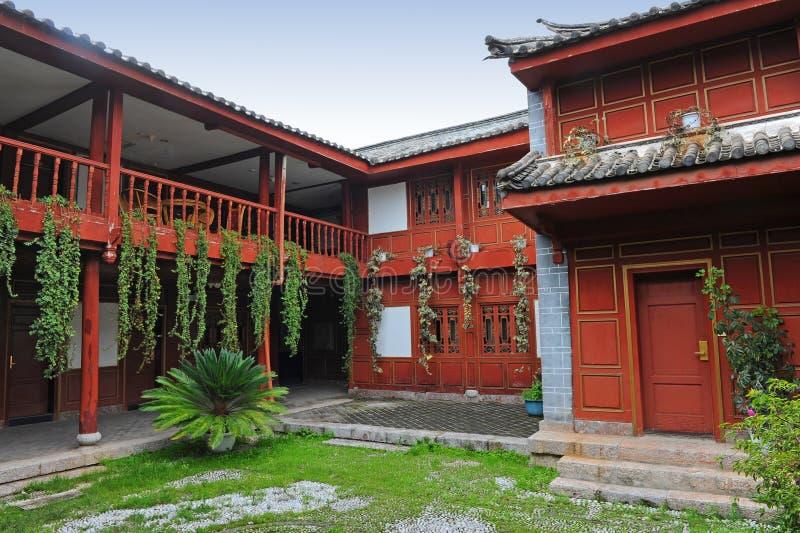 Casa chinesa do pátio fotografia de stock royalty free