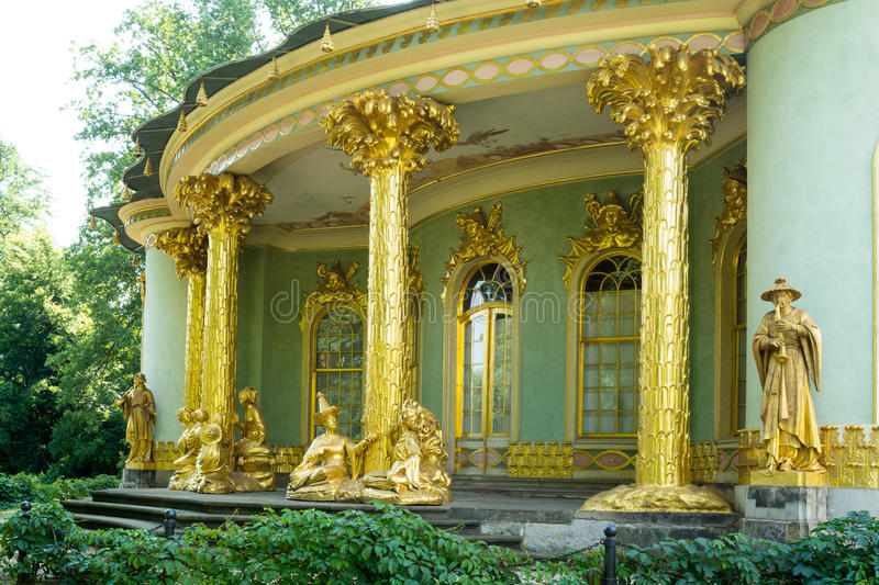 Casa chinesa, Sanssouci. Potsdam. Alemanha fotografia de stock