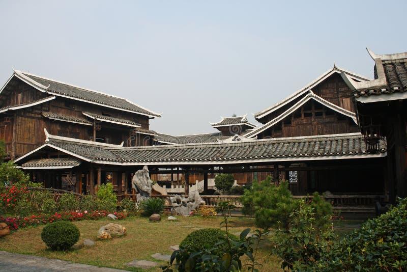 Casa cinese immagine stock immagine di vecchio giardino for Casa tradizionale cinese