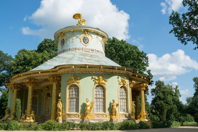 Casa cinese, Sanssouci. Potsdam. La Germania immagini stock