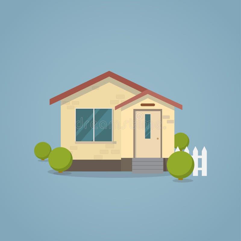 Casa clásica plana libre illustration