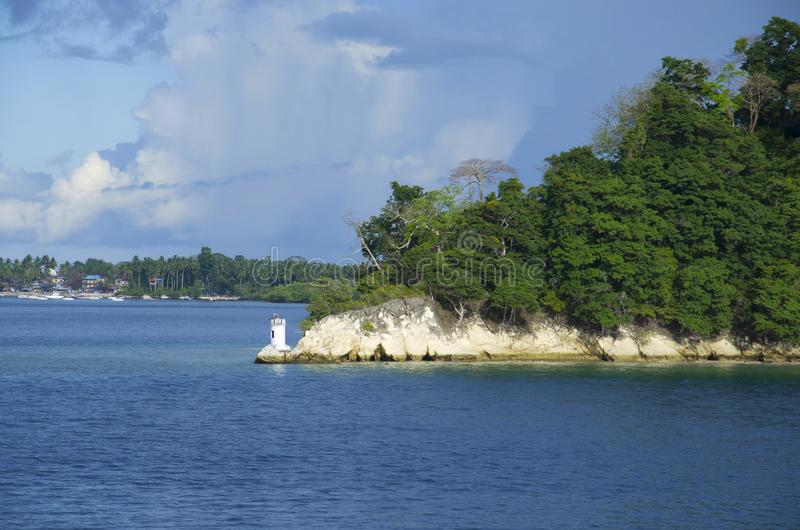A casa clara da ilha, do Port Blair, do Andaman e das ilhas Nicobar de Havelock fotos de stock royalty free