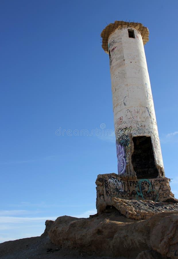 Casa clara de desintegração, costa do mar de Cortez, EL Golfo de Santa Clara, México fotos de stock