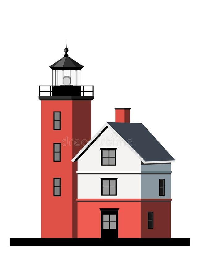 Download Casa Clara Do Console Redondo Ilustração Stock - Ilustração de vermelho, console: 12810278