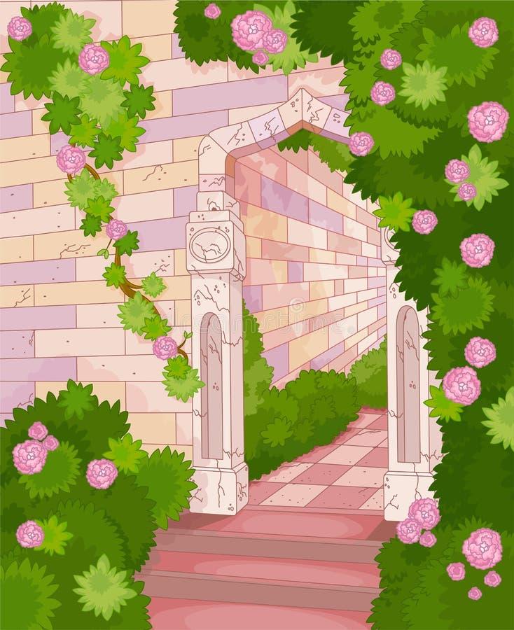 Casa coberto de vegetação ilustração stock