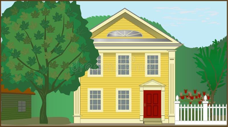 Casa colonial ilustração do vetor