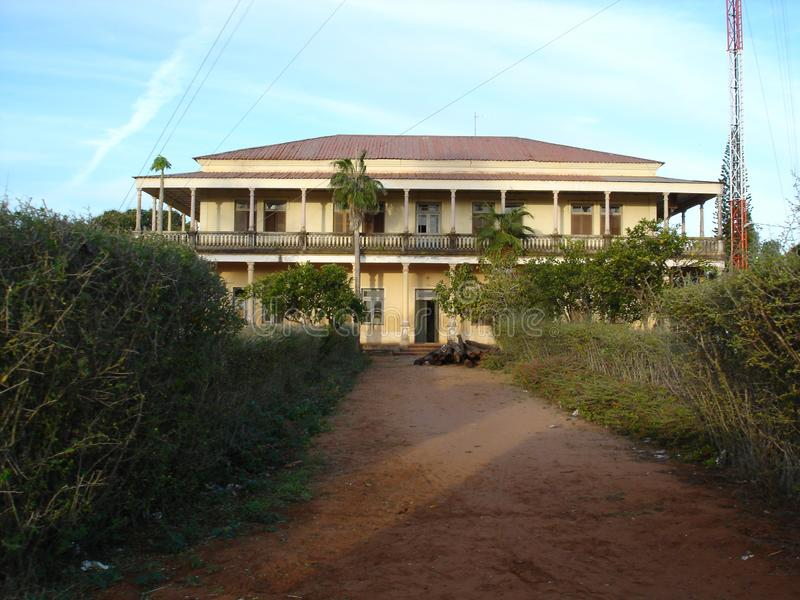 Casa colonial de Moçambique ilustração do vetor