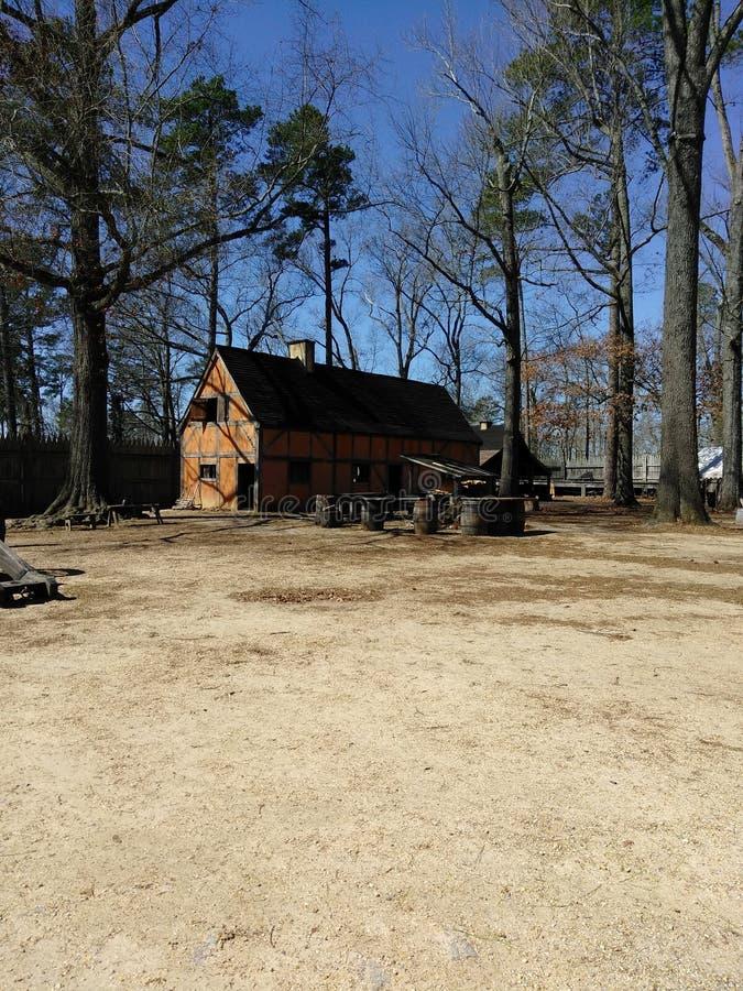 Casa colonial velha em Jamestown, Williamsburg, Virgínia imagem de stock royalty free