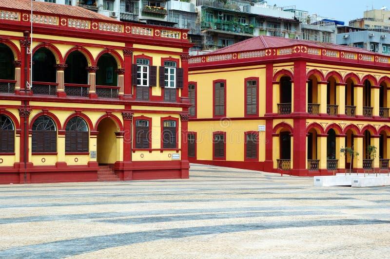 Casa coloniale, Macau fotografia stock