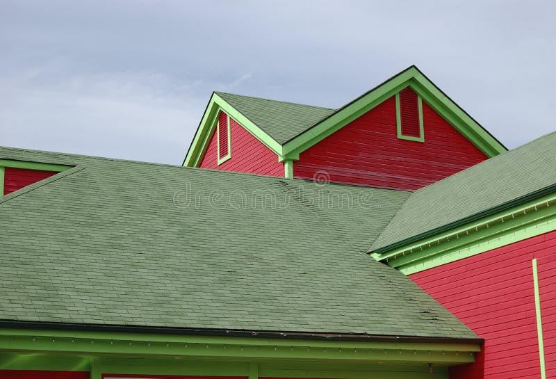 Casa colorida de madera fotografía de archivo libre de regalías