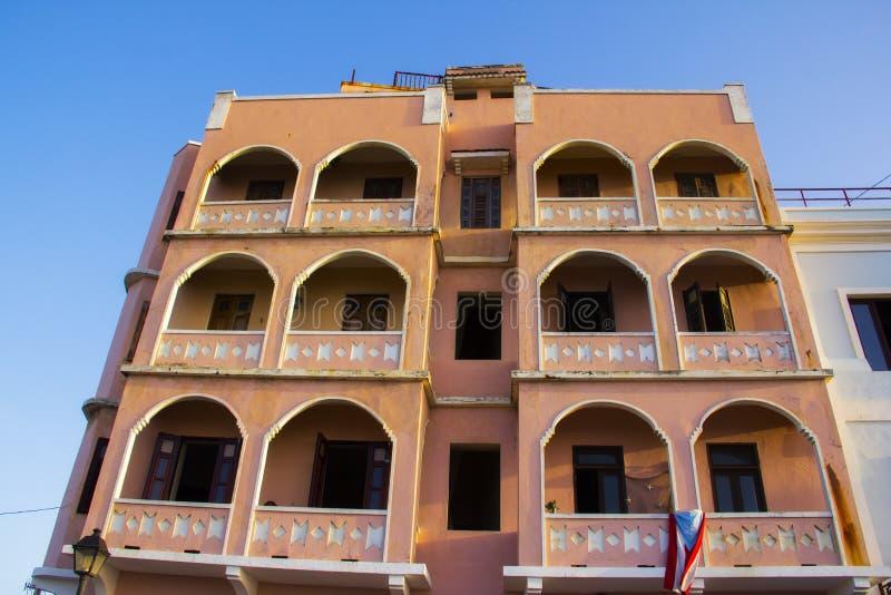 Casa colorida en San Juan Puerto Rico fotos de archivo