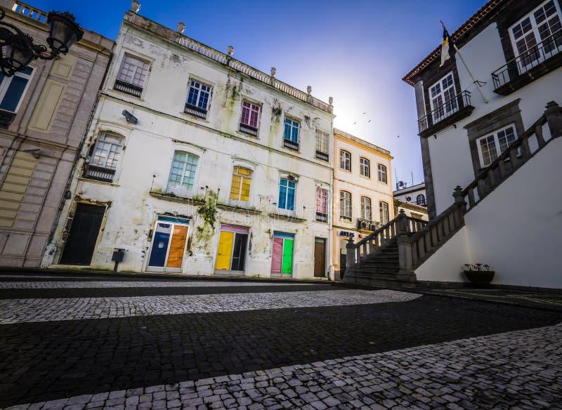 Casa colorida velha em Ponta Delgada fotos de stock royalty free