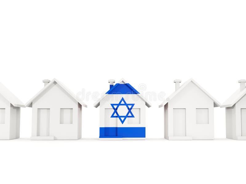 Casa com a bandeira de Israel ilustração stock