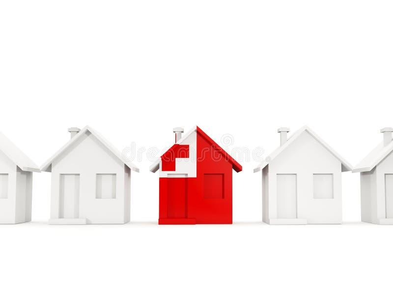 Casa com a bandeira de tonga ilustração stock