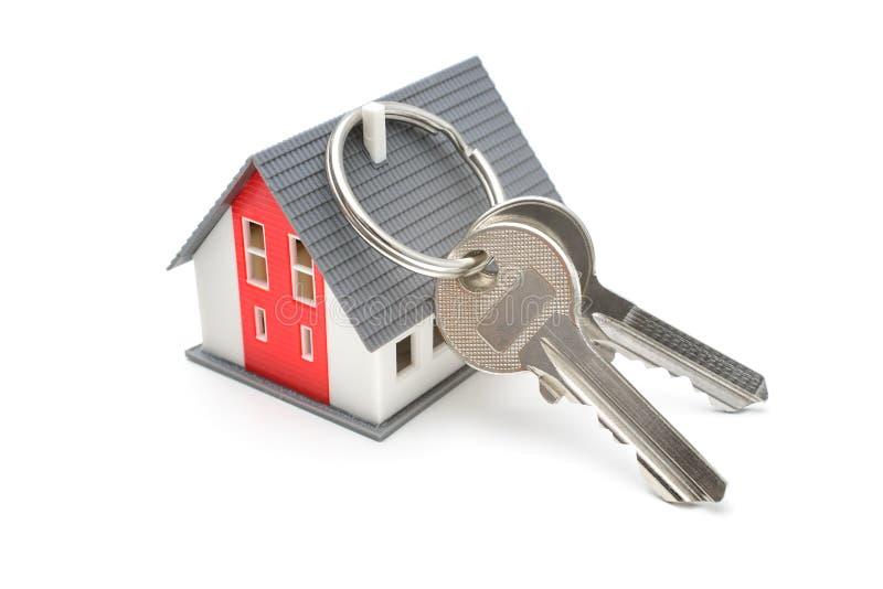 Casa com chaves foto de stock royalty free