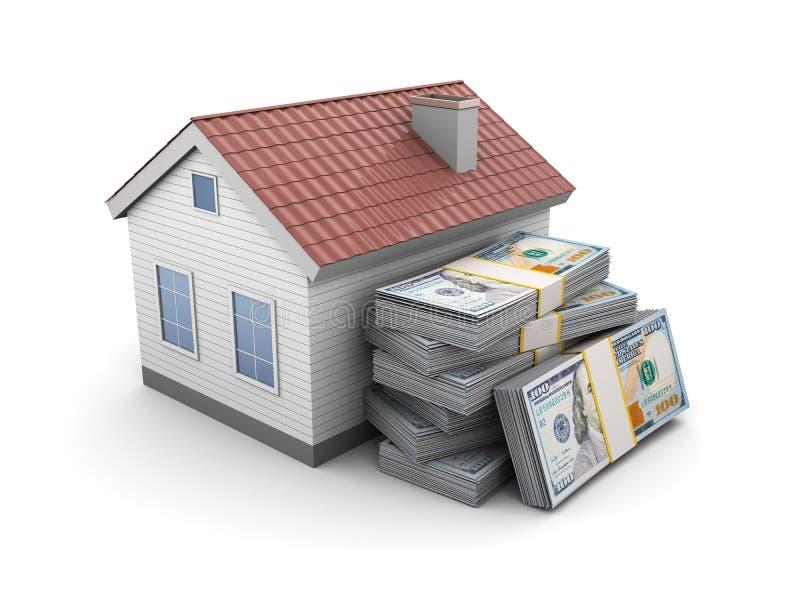 Casa com dinheiro ilustração stock