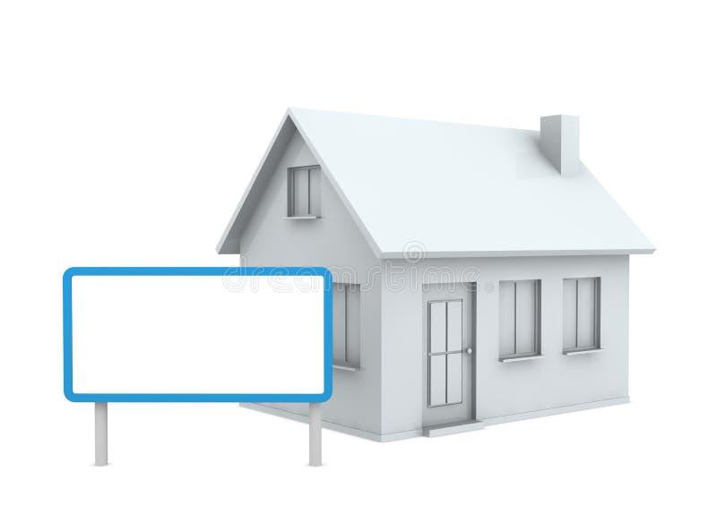 Casa com um quadro indicador ilustração do vetor
