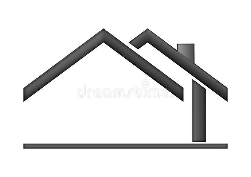 Casa como um logotipo ilustração stock