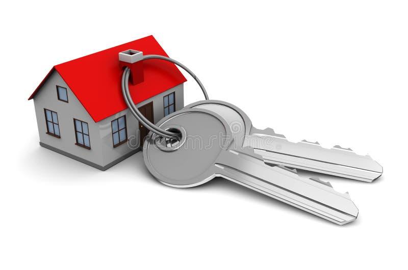 Casa con claves stock de ilustración