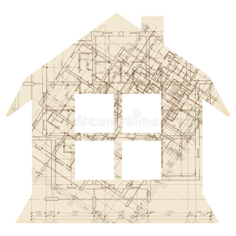 Casa con el icono de la arquitectura de la ventana stock de ilustración