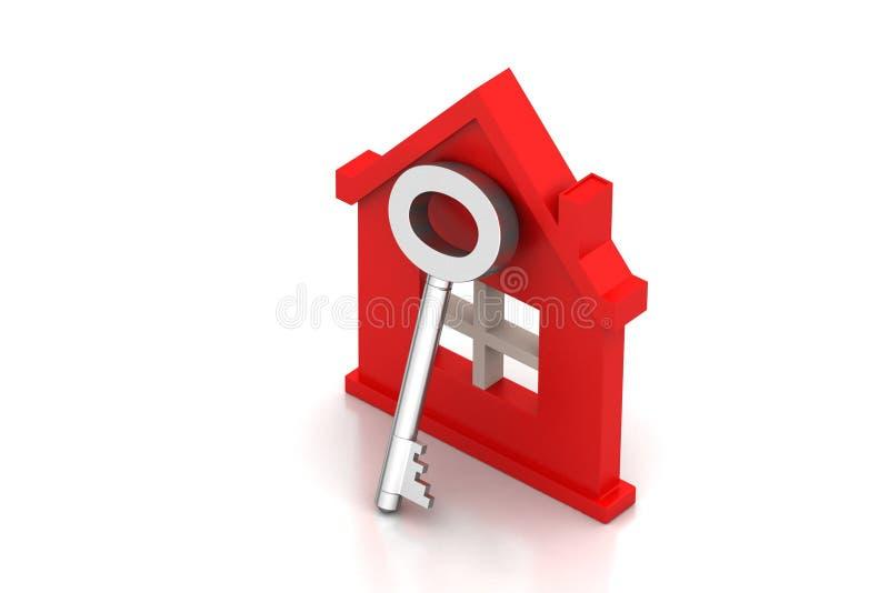 Casa con la chiave illustrazione di stock