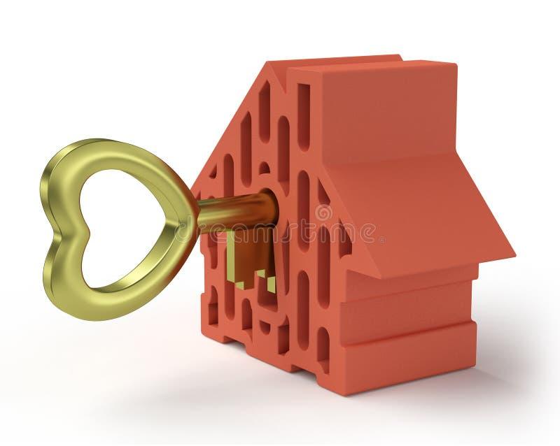 Casa con la chiave dell'oro illustrazione vettoriale