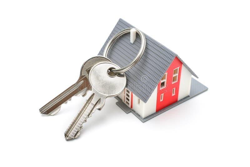 Casa con llaves imagen de archivo