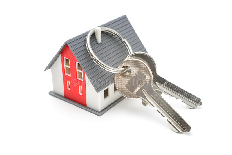 Casa con llaves foto de archivo libre de regalías