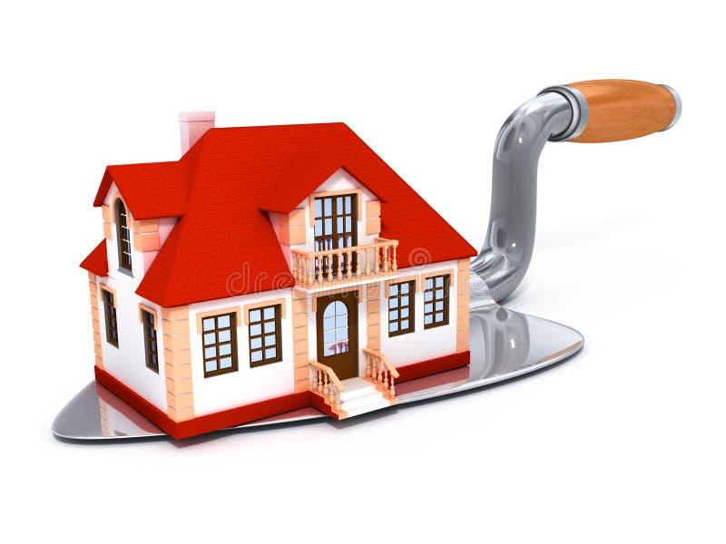 Casa confidencial construída nova na ferramenta darby ilustração stock