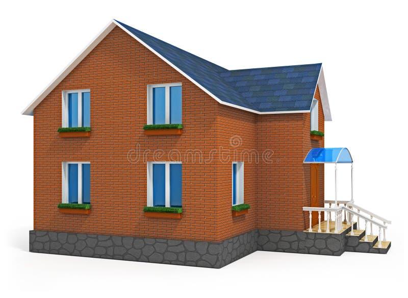 Casa confidencial nova isolada no fundo branco ilustração royalty free
